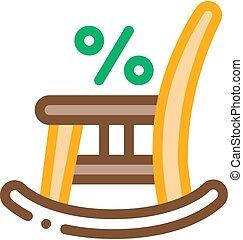 balancer, icône, vecteur, illustration, chaise, contour