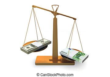 balances, argent, euro, gagne