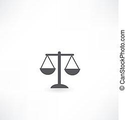 balances, icône