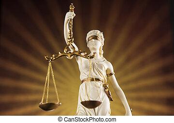 balances justice, et, droit & loi, concept