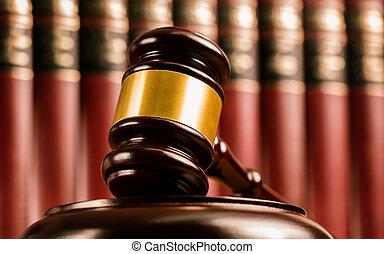 balances, justice, juge, livre, fond, marteau