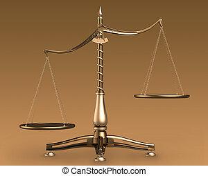 balances, laiton, concept, 3d