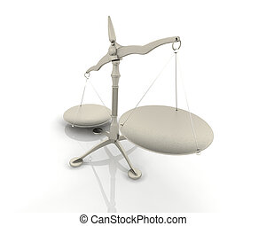 balances, render, 3d