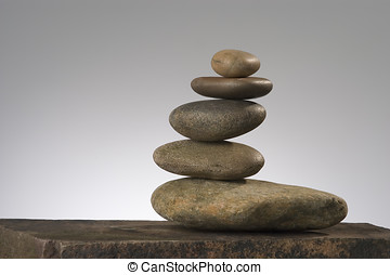 balancing  act - balancing river rocks
