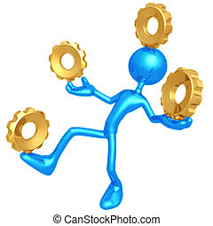 Balancing Gears - 3D Concept And Presentation Figure