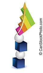 balancing graph illustration design
