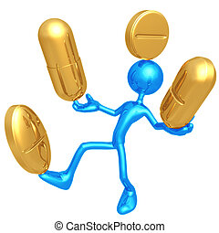 Balancing Medication - 3D Concept And Presentation Figure