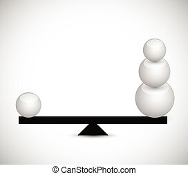 balancing spheres. illustration design