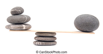 stones - balancing stones on white