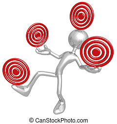 Balancing Targets - 3D Concept And Presentation Figure