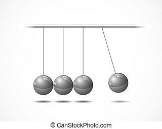 balansering, klumpa ihop sig, newton's, vagga