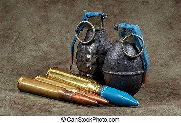 balas, granadas