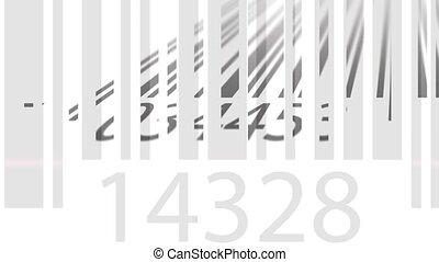 balayage, animation, 4k, loopable, barcodes