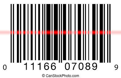 balayage, blanc, barcode