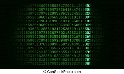 balayage, données, boucle