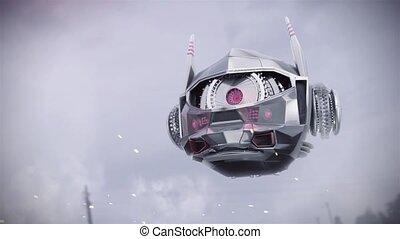balayage, voler, robot