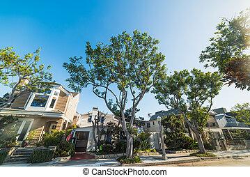 Balboa island on a sunny day