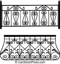 balcón, barandillas