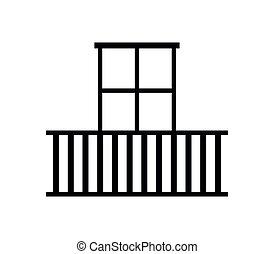 balcón, icono