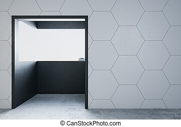 balcon, minimalistic, salle vide