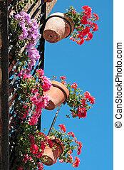 balcon, typique, espagnol