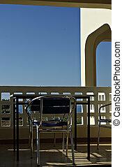 balcon, vue