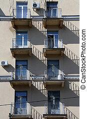 Balconies anmd windows - Balconies and windows on the wall...