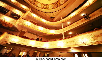 Balconies in hall Moscow Operetta Theater in Moscow , Russia.