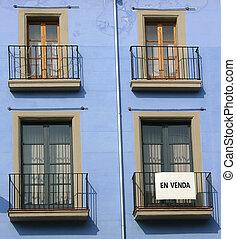 Balconies in Spain