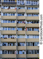 Balconies of Falowiec in Gda?sk