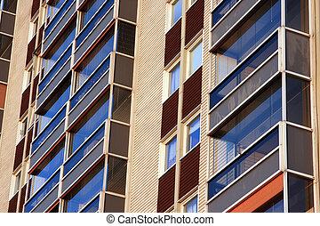 balconies of residential building