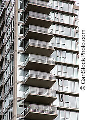 Balconies on Vancouver High Rise Condos