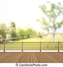 Balcony And Terrace Of Blur Nature Background - Balcony And...
