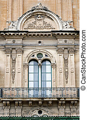 Balcony and window in Mannerist style (High Renaissance) at the Grand Master's Palace, Valletta, Malta