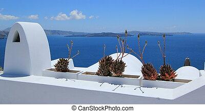 Balcony at Santorini, Greece