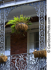 French Quarter - Balcony detail on French Quarter house, New...