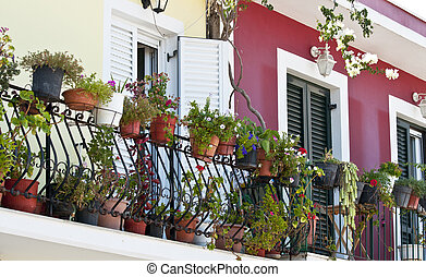 Balcony full with flowers