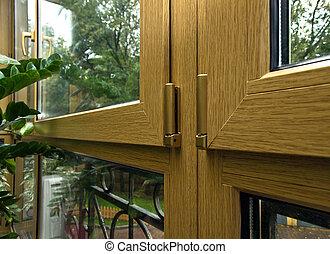 Balcony glazing by fiberglass profile system