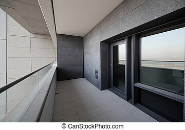 high end balcony in downtown of dubai