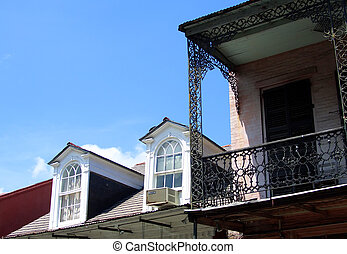 Balcony in french quarter, New Orleans