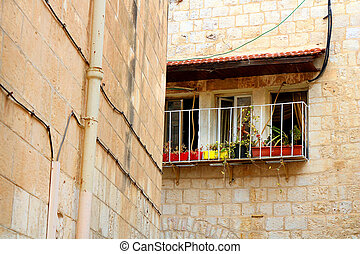 Balcony in The Old City of Jerusalem, Israel