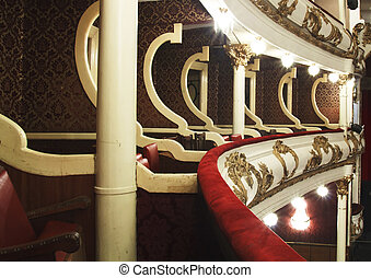 balcony of old theater