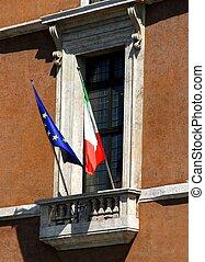 balcony of piazza venezia in Rome