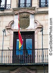 Balcony of the city hall, Alcala La Real, Spain