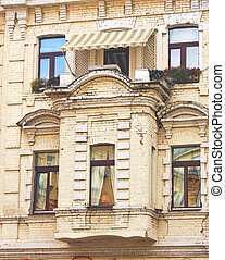 Balcony of the old building