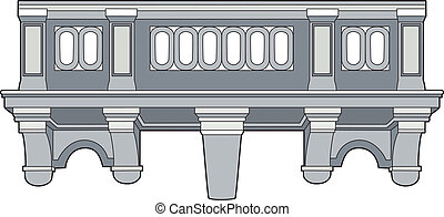 Balcony - Vector illustration of an architectural element,...