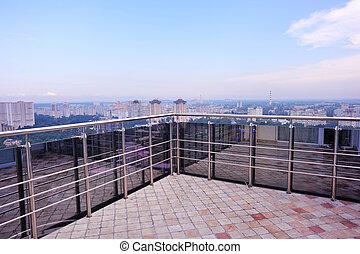 balcony view, Kiev, Ukraine
