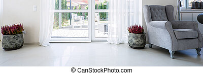Balcony window in living room
