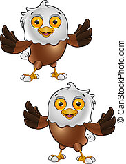 Bald Eagle Character - 1 - A vector illustration on a...