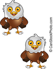 Bald Eagle Character - 4 - A vector illustration on a...